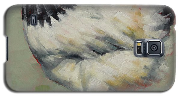 Galaxy S5 Case featuring the painting Light Sussex Hen by Margaret Stockdale