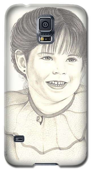 Galaxy S5 Case featuring the drawing My Little Girl by Patricia Hiltz
