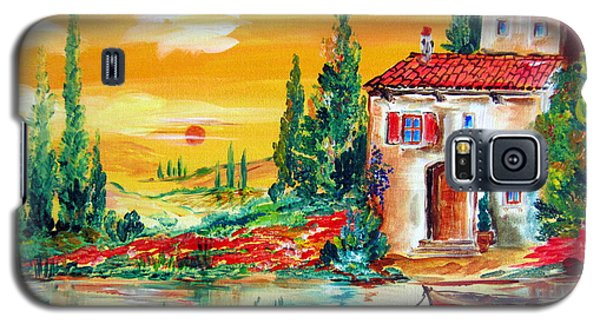 My Little Tuscany Home By The River Galaxy S5 Case by Roberto Gagliardi