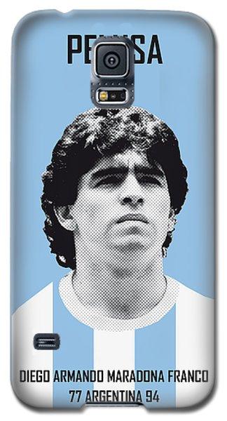 My Maradona Soccer Legend Poster Galaxy S5 Case by Chungkong Art