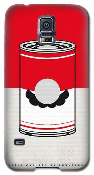 Tomato Galaxy S5 Case - My Mario Warhols Minimal Can Poster-mario by Chungkong Art