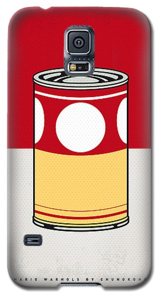 Tomato Galaxy S5 Case - My Mario Warhols Minimal Can Poster-mushroom by Chungkong Art