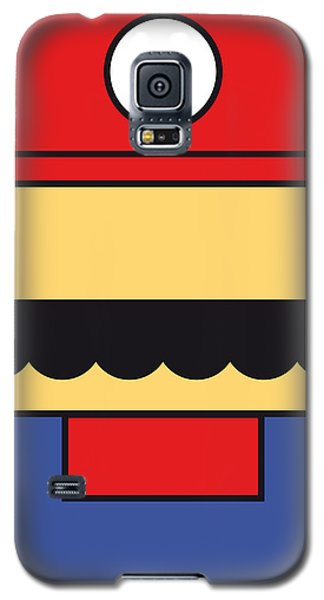 Castle Galaxy S5 Case - My Mariobros Fig 01 Minimal Poster by Chungkong Art