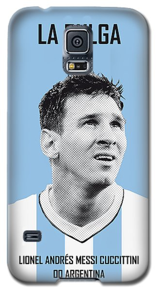 Barcelona Galaxy S5 Case - My Messi Soccer Legend Poster by Chungkong Art