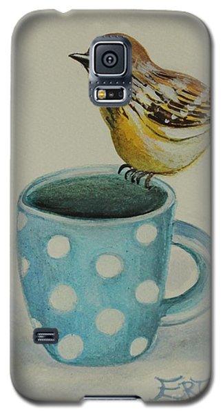 Polka Dot Songbird Delight Galaxy S5 Case by Elizabeth Robinette Tyndall