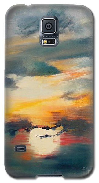 Galaxy S5 Case featuring the painting My Paradise Sunrise by PainterArtist FIN