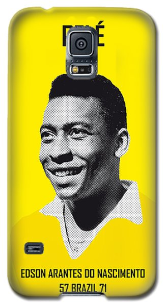 Soccer Galaxy S5 Case - My Pele Soccer Legend Poster by Chungkong Art