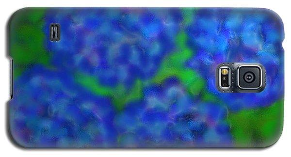 Galaxy S5 Case featuring the digital art My Rain Soaked Hydrangeas by Latha Gokuldas Panicker