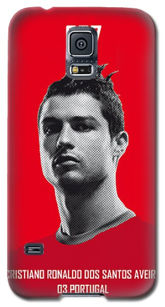 Barcelona Galaxy S5 Case - My Ronaldo Soccer Legend Poster by Chungkong Art