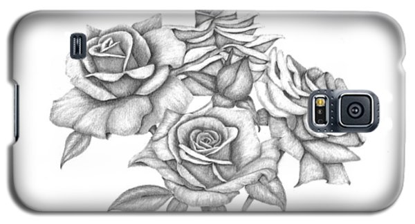 Galaxy S5 Case featuring the drawing My Roses by Patricia Hiltz