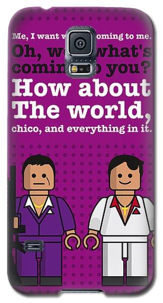 Miami Galaxy S5 Case - My Scarface Lego Dialogue Poster by Chungkong Art