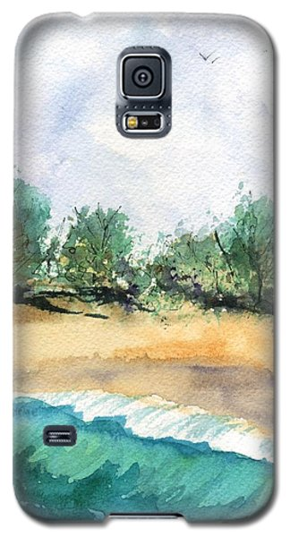 Galaxy S5 Case featuring the painting My Secret Beach by Marionette Taboniar