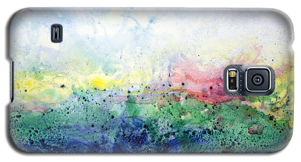 Galaxy S5 Case featuring the painting My Spirit My Sky by Ron Richard Baviello