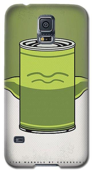 Tomato Galaxy S5 Case - My Star Warhols Yoda Minimal Can Poster by Chungkong Art
