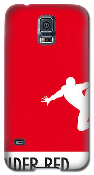 Spider Galaxy S5 Case - My Superhero 04 Spider Red Minimal Poster by Chungkong Art