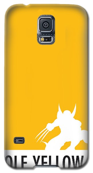 Spider Galaxy S5 Case - My Superhero 05 Wolf Yellow Minimal Poster by Chungkong Art