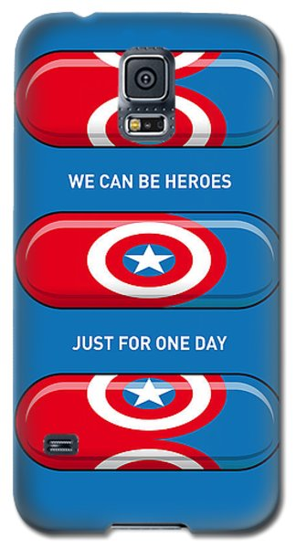 Superhero Galaxy S5 Case - My Superhero Pills - Captain America by Chungkong Art
