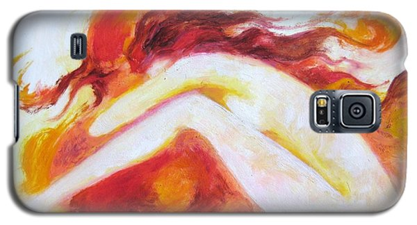 Galaxy S5 Case featuring the painting My Thoughts Are My Own by Marat Essex