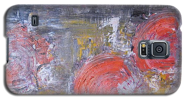 Galaxy S5 Case featuring the painting My Three Suns by Lucy Matta