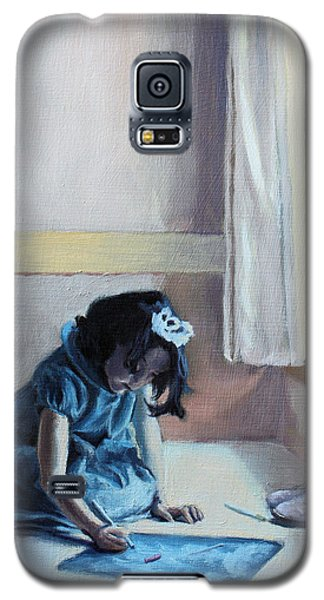 Galaxy S5 Case featuring the painting My Time by Rachel Hames