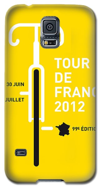 Transportation Galaxy S5 Case - My Tour De France 2012 Minimal Poster by Chungkong Art