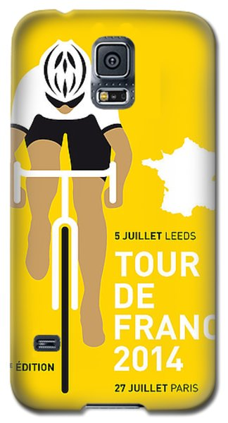 Transportation Galaxy S5 Case - My Tour De France Minimal Poster 2014 by Chungkong Art