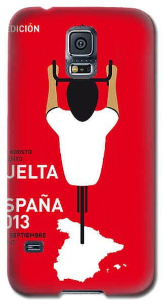 Bicycle Galaxy S5 Case - My Vuelta A Espana Minimal Poster - 2013 by Chungkong Art