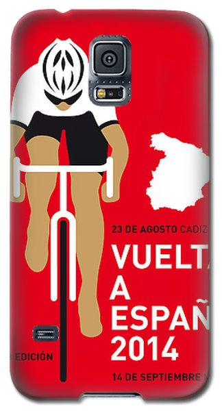 Bicycle Galaxy S5 Case - My Vuelta A Espana Minimal Poster 2014 by Chungkong Art