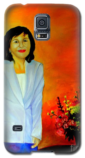 Galaxy S5 Case featuring the painting My Wife by Jason Sentuf