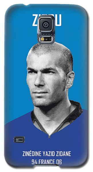 Barcelona Galaxy S5 Case - My Zidane Soccer Legend Poster by Chungkong Art