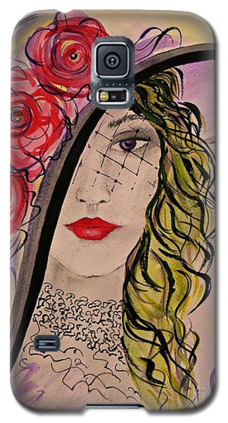 Galaxy S5 Case featuring the painting Mysterious Lady by AmaS Art