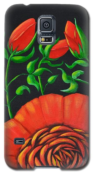 Galaxy S5 Case featuring the painting Mystery Flower by Melvin Turner