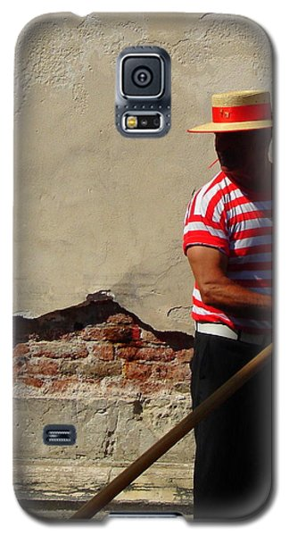 Galaxy S5 Case featuring the photograph Mystery Gondolier by Ramona Johnston