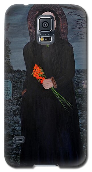 Galaxy S5 Case featuring the painting Mystery by Myrna Walsh