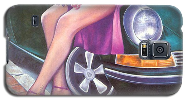 Galaxy S5 Case featuring the painting Mystery On Peter Porsche by Mary Ann  Leitch