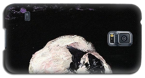 Galaxy S5 Case featuring the painting Mystic Cat Nap  by Reina Resto