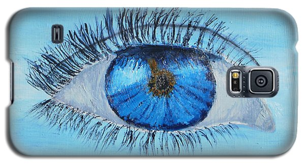 Galaxy S5 Case featuring the painting Mystic Eye by Pamela  Meredith