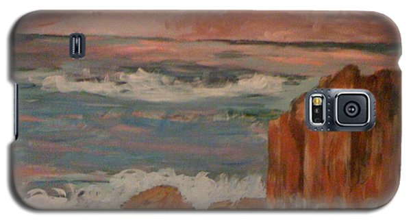 Galaxy S5 Case featuring the painting Mystic Isle by Judi Goodwin