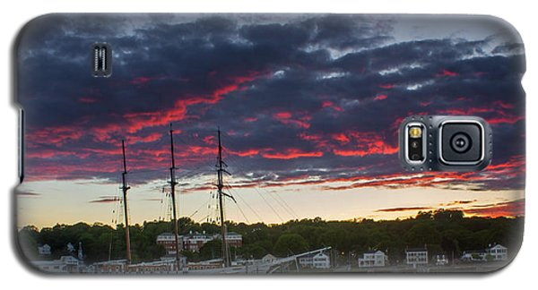 Mystic River Burning Sunset Galaxy S5 Case