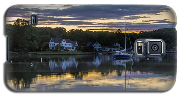 Mystic River Sunset Reflection Galaxy S5 Case