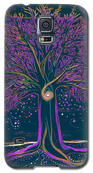 Mystic Spiral Tree 1 Purple Galaxy S5 Case