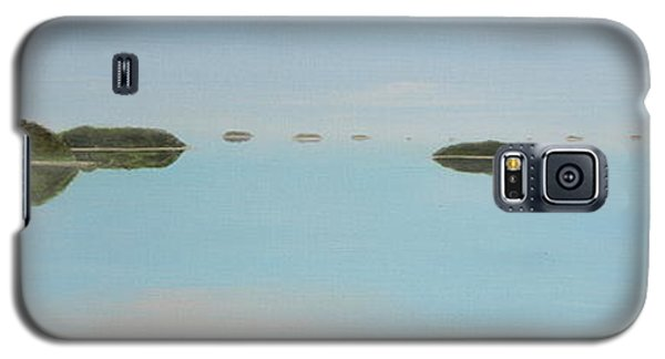 Galaxy S5 Case featuring the painting Mystical Islands by Tim Mullaney