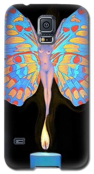 Galaxy S5 Case featuring the painting Naked Butterfly Lady Transformation by Sue Halstenberg