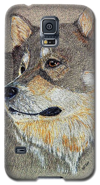 Galaxy S5 Case featuring the drawing Nanook by Stephanie Grant