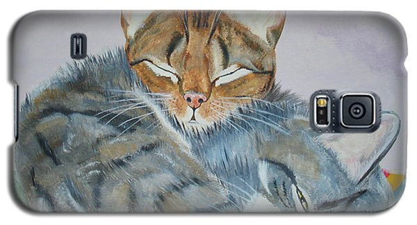 Galaxy S5 Case featuring the painting Nap Time by Thomas J Herring