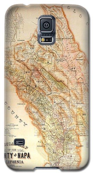 Napa Valley Map 1895 Galaxy S5 Case