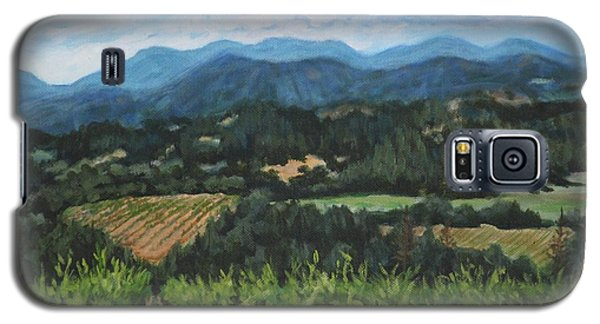 Galaxy S5 Case featuring the painting Napa Valley Vineyard by Penny Birch-Williams
