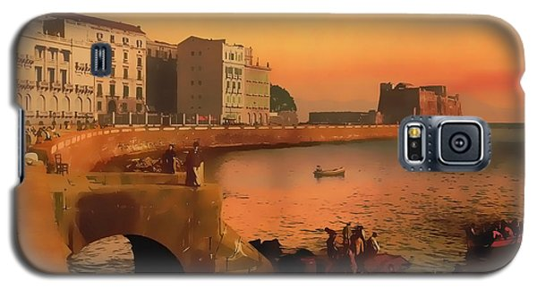 Galaxy S5 Case featuring the painting Naples Italy 1920 by Douglas MooreZart