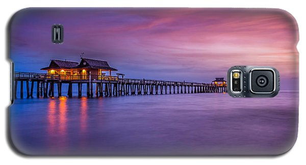Naples Pier Purple Sunset Galaxy S5 Case