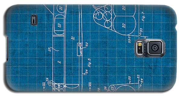 Nasa Space Shuttle Vintage Patent Diagram Blueprint Galaxy S5 Case by Design Turnpike